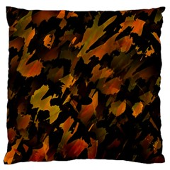 Abstract Autumn  Large Flano Cushion Case (One Side)