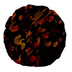 Abstract Autumn  Large 18  Premium Flano Round Cushions
