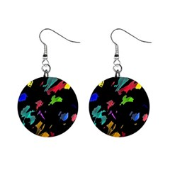 Painter was here Mini Button Earrings