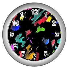 Painter was here Wall Clocks (Silver)