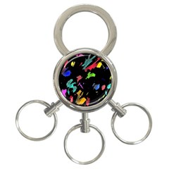 Painter was here 3-Ring Key Chains