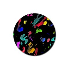 Painter was here Rubber Coaster (Round)