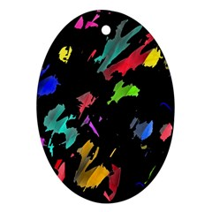 Painter was here Oval Ornament (Two Sides)