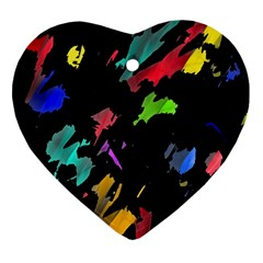 Painter was here Heart Ornament (2 Sides)