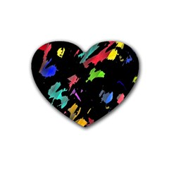 Painter was here Heart Coaster (4 pack)