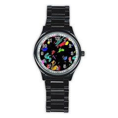 Painter was here Stainless Steel Round Watch