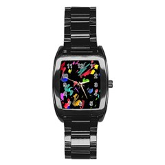 Painter was here Stainless Steel Barrel Watch