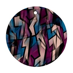 Purple high art Ornament (Round)