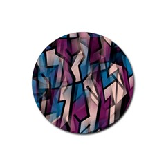 Purple high art Rubber Coaster (Round)