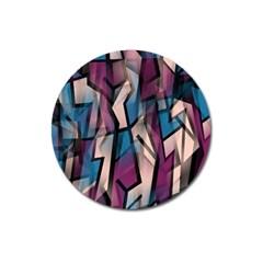 Purple high art Magnet 3  (Round)