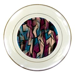 Purple high art Porcelain Plates
