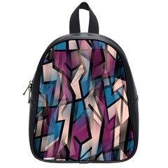 Purple high art School Bags (Small)