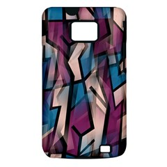 Purple high art Samsung Galaxy S II i9100 Hardshell Case (PC+Silicone)