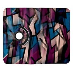 Purple high art Samsung Galaxy Note II Flip 360 Case