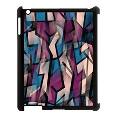 Purple high art Apple iPad 3/4 Case (Black)