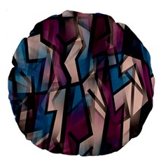 Purple high art Large 18  Premium Round Cushions