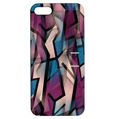 Purple high art Apple iPhone 5 Hardshell Case with Stand