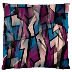 Purple high art Large Flano Cushion Case (Two Sides)