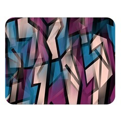 Purple high art Double Sided Flano Blanket (Large)
