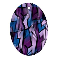 Purple decorative abstract art Ornament (Oval)