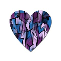 Purple decorative abstract art Heart Magnet