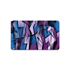 Purple decorative abstract art Magnet (Name Card)