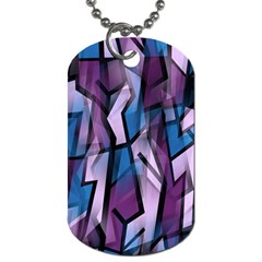 Purple decorative abstract art Dog Tag (One Side)