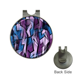 Purple decorative abstract art Hat Clips with Golf Markers