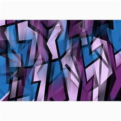 Purple decorative abstract art Collage Prints