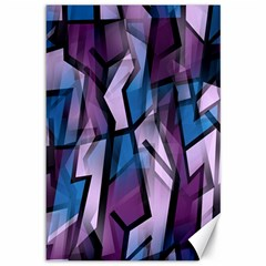 Purple decorative abstract art Canvas 12  x 18
