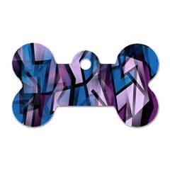Purple decorative abstract art Dog Tag Bone (Two Sides)