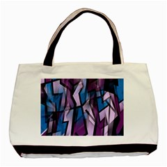 Purple Decorative Abstract Art Basic Tote Bag (two Sides)