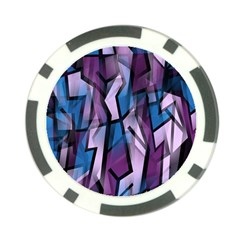 Purple decorative abstract art Poker Chip Card Guards
