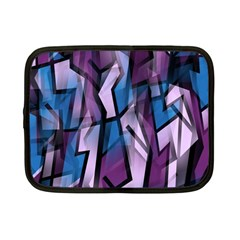 Purple decorative abstract art Netbook Case (Small)