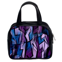 Purple decorative abstract art Classic Handbags (2 Sides)
