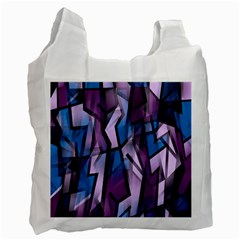 Purple decorative abstract art Recycle Bag (One Side)