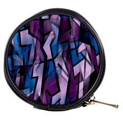 Purple decorative abstract art Mini Makeup Bags