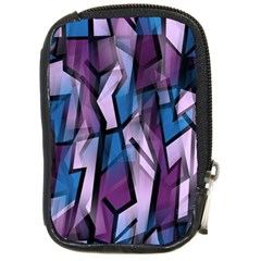 Purple decorative abstract art Compact Camera Cases