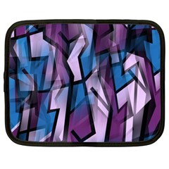 Purple decorative abstract art Netbook Case (XL)