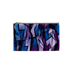 Purple decorative abstract art Cosmetic Bag (Small)