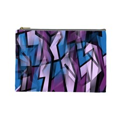 Purple decorative abstract art Cosmetic Bag (Large)