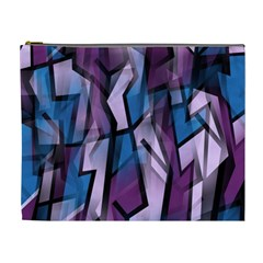 Purple decorative abstract art Cosmetic Bag (XL)