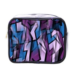 Purple decorative abstract art Mini Toiletries Bags