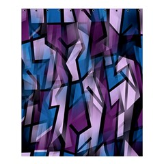 Purple decorative abstract art Shower Curtain 60  x 72  (Medium)