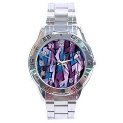 Purple decorative abstract art Stainless Steel Analogue Watch