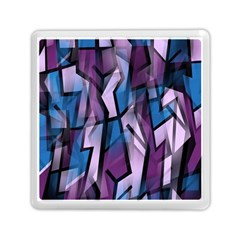 Purple decorative abstract art Memory Card Reader (Square)