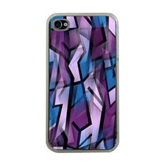 Purple decorative abstract art Apple iPhone 4 Case (Clear)