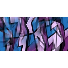 Purple Decorative Abstract Art You Are Invited 3d Greeting Card (8x4)