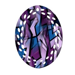 Purple decorative abstract art Ornament (Oval Filigree)