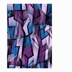 Purple decorative abstract art Small Garden Flag (Two Sides)